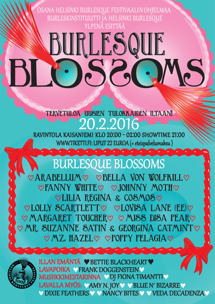 Poster Burlesque Blossoms 2016
