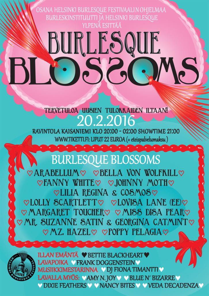 Poster Burlesque Blossoms 2016